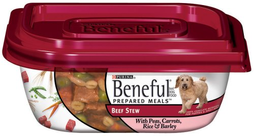 Beneful Dog Food Prepared Meals Beef Stew Dog Food, 10-Ounce Plastic Containers (Pack of 8)
