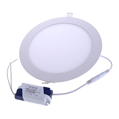 Vakind Super Bright 18W Led Thin Round Ceiling Panel Side Light Bulb Lamp (Warm White)