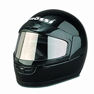 Mossi Black Large Youth Snowmobile Helmet