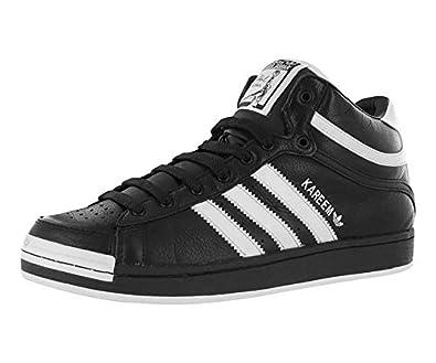 Adidas Men's Kareem Abdul Jabbar Mid Casual Shoe Black/White men's 10.5