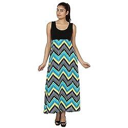 Ru-Ru Women's Maxi Dress (Zrds_02-36_Black_36)