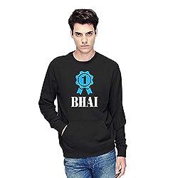 TYYC Ek Number ka Bhai Printed Round Neck Mens Sweatshirt Black_XL