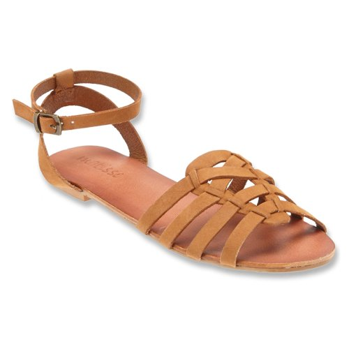 Matisse Paula Womens Size 10 Tan Open Toe Leather Slingback Sandals Shoes front-411641