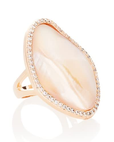 CZ by Kenneth Jay Lane Pavé Mother of Pearl Ring As You See