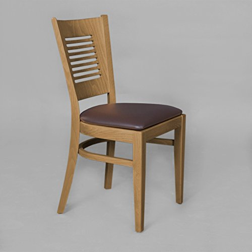 2er set stuhle stuhl quottg004quot buche massiv kunstleder for Günstige küchenstühle