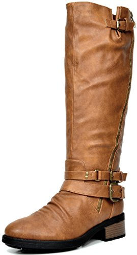 DREAM-PAIRS-ATLANTA-Womens-Side-Zipper-Fur-Lined-Riding-Boots-Wide-Calf-Available