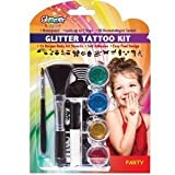 Party Glitter Tattoo Kit & Stencils Set