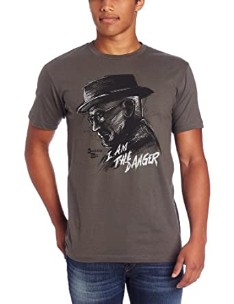 Breaking Bad I Am Danger Homme Lightweight Charcoal Gris T-Shirt | S