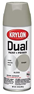 Krylon 8811 'Dual'  Paint and Primer 12-Ounce  Aerosol, Gloss Khaki