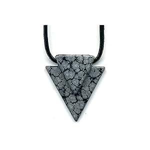 Collier Obsidienne neige pyramide