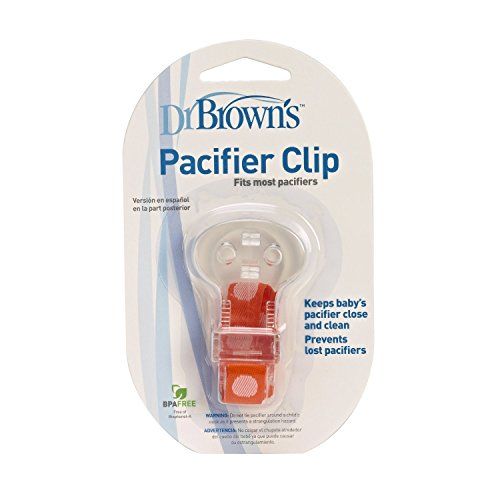 Dr. Brown'S Pacifier Clip With Tether Orange front-695713