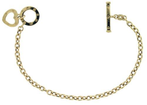 9ct Yellow Gold Belcher Ring & Heart T Bar 20.5cm Bracelet