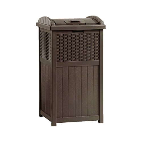 Patio Furniture Garbage Can: New Suncast GHW1732 Home Outdoor Patio Resin Wicker Trash