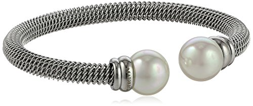 Majorica 12mm White Pearls on Silver Stainless Ste…
