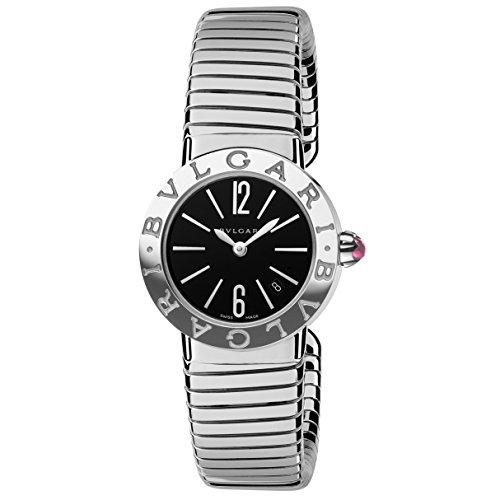 Bvlgari Women's Bulgari 26mm Steel Bracelet & Case Quartz Black Dial Analog Watch 102097 BBL262TBSS.M