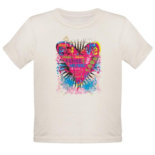 Artsmith, Inc. Organic Toddler T-Shirt Hope Joy Believe Heart - 4T