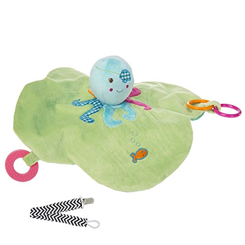 Mary Meyer 41505 Buccaneer Octopus Activity Baby Blanket with Pacifier Clip - 1