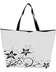 Snoogg Seamless Floral Pattern Abstract Background Waterproof Bag Made Of High Strength Nylon - B01I1KK532