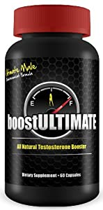 boostULTIMATE Testosterone Booster - Natural Performance & Size Enhancement - Gain 3+ Inches in 60 Days! 100% MONEYBACK GUARANTEE! Lean Muscle Growth & Enlargement Solution for Men