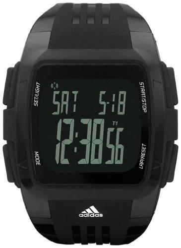 Adidas Unisex ADP6034 Black Polyurethane Quartz Watch with Black Dial