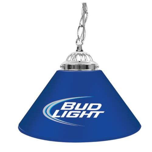 Trademark Bud Light 14 Inch Single Shade Bar Lamp, Blue front-626724