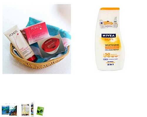 Special Set :Pond'S Age Miracle Anti-Ageing Set Plus Nivea Sun Block Lotion Whitening Immediate Collagen Protect Spf 50
