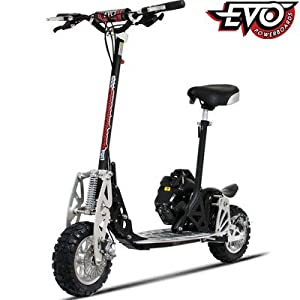 50cc Scooters - Evo 2x Big 50cc Powerboard in Black