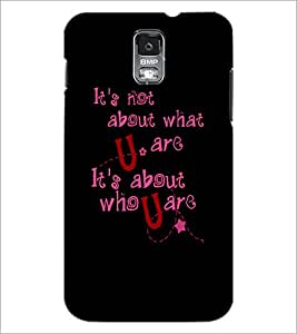 PrintDhaba Quote D-4901 Back Case Cover for SAMSUNG GALAXY S5 (Multi-Coloured)