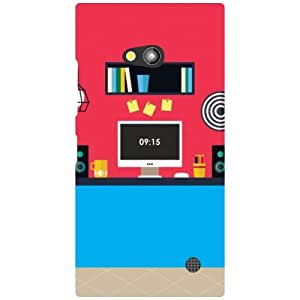 Nokia Lumia 730 Red Paint Matte Finish Phone Cover