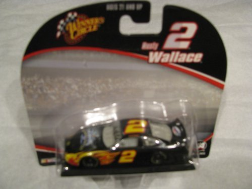 rusty-wallace-2-last-call-miller-lite-test-car-with-flames-1-64-scale-diecast-winners-circle-by-winn