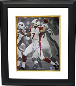 Matt Leinart signed Arizona Cardinals 16X20 Photo Custom Framed- Leinart Hologram by Athlon Sports Collectibles