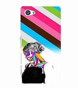 PrintVisa SXZ5MINI-Stylish Cool Girl Print & Patterns Plastic Back Cover (Multicolor)