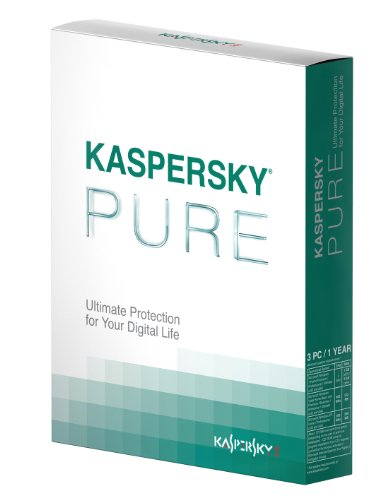 Kaspersky Pure, (inc. Internet Security, Parental Control and Data Back Up), 3 User, 1 Year license (PC)