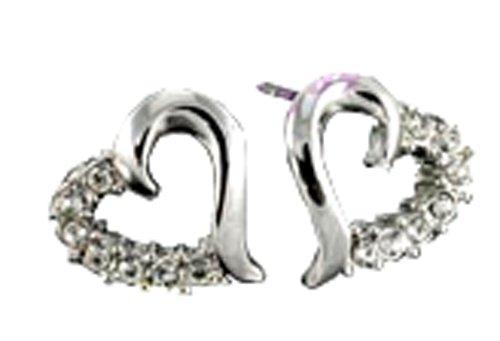 Frost© oxidiert schwarz Modeschmucksammlung - - Miteinander Herzen Ohrringe Kristall ,Herz in Herz Kristall Swarovski Ohrringe