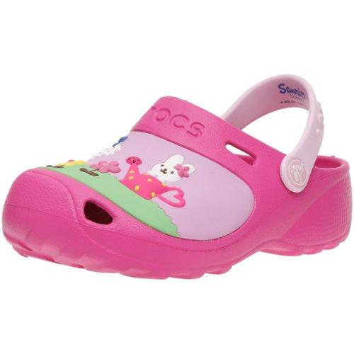 Crocs Hello Kitty Custom Clog - Stivali Bambina, Rosa (Fuchsia/Bubblegum), 33.5 EU