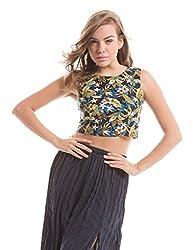 Prym Women's Body Blouse Shirt (1011519601_Blue Mix_Medium)