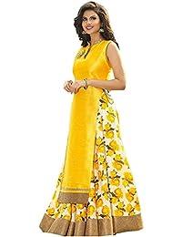 Fashion Dream Womens Banglori Silk Salwar Suit(Yellow_N!-yellow Indo_Free Size)