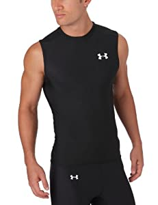 Men's HeatGear® Sleeveless T Tops by Under Armour - Black, Large