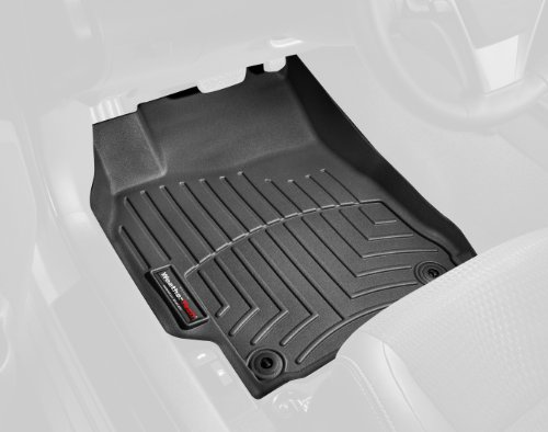 WeatherTech Custom Fit Front FloorLiner for Porsche Cayenne/Volkswagen Touareg (Black) (2006 Cayenne Weathertech compare prices)