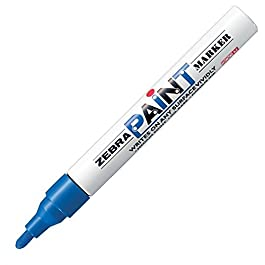 Zebra MOP-200MZ 1.5mm Free Ink System Oil-based Paint Marker - Blue