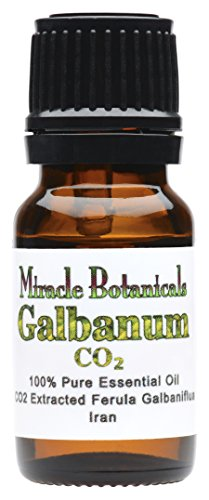 Miracle Botanicals Galbanum Essential Oil - 100% Pure Ferula Galbaniflua - CO2 Extracted - Therapeutic Grade - 10ml