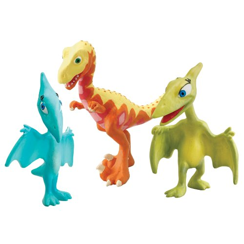 Learning Curve Dinosaur Train - Collectible Dinosaur 3 Pack- Mrs. Pteranodon, Shiny, Derek