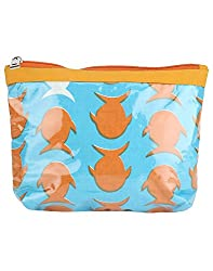 Needlecrest Womens Casual Pouch (Orange & Blue Color)