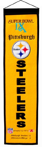 NFL Pittsburgh Steelers Super Bowl IX Banner