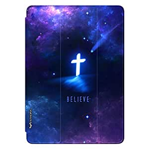 "Enthopia Designer Front Smart Cover Believe in the Almighty Back Cover for Ipad Pro 12"" with Transparent Back Case"