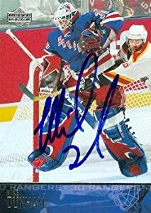 Buy Mike Dunham Autographed Hand Signed Hockey Card (New York Rangers) 2003 Upper Deck #130 by Hall of Fame Memorabilia