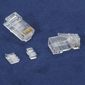 InstallerParts RJ45 Cat 6A Plug Solid 50 Micron 3pc type 100pk