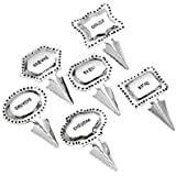 Stainless Steel Cheese Markers Set in Stainless Steel