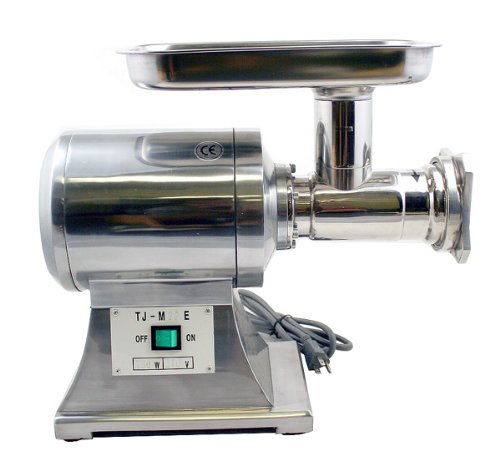 New Commercial Heavy Duty Stainless Steel 1HP Automatic Meat Grinder No #22 blade