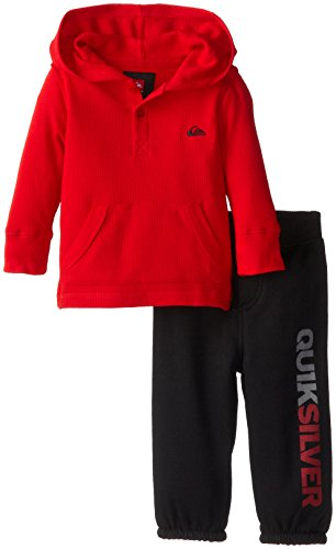 Quiksilver Baby-Boys Infant Thermal Red Hoody With Pull On Pants, Red, 18 Months front-702795